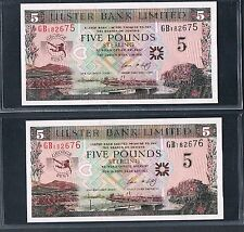 NORTHERN IRELAND BANKNOTE 5 P339 2006 UNC GEORGE BEST 2 CONSECUTIVE NOTES