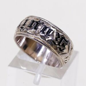 Sz 5.5 Hawaiian Rose Gold Sterling 925 Silver Hammered Ring Band kuuipo jewelry