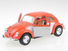 VW Beetle Käfer 1967 orange white diecast modelcar 5373 Kinsmart 1:32