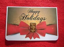 2 gram GOLD TGR BULLION HAPPY HOLIDAY Gold Bar (In Assay) IDEAL STOCKING STUFFER