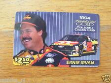 PHONECARD FINISH LINE GOLD ERNIE IRVAN FORD VALVOLINE CAR 1994