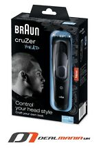Braun Cruzer 5 Head -  Cordless Hair Clippers  Waterproof  Washable,Best Price !