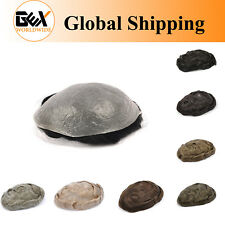 GEX Toupee Mens Hairpiece NG Ultra Thin Skin Human Remy Hair Replacement System