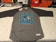 San Jose Sharks Mitchell & Ness Raglan Sz XXL