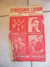 Partition Le Rosignol Cubain Hélian Patrice Mario Trio Do Ré Mi
