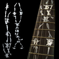 Fret Markers Inlay Sticker Decal For Guitar Neck - Barbed Wire Swirl -Metal
