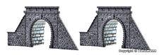 Kibri Z Scale 36900/6900 Two Stone Tunnel Portals Single Track *NEW $0 Ship
