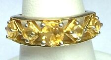 #026 Estate  Gold Over Sterling Silver 925 Cocktail Ring Sz 5.75 Not Scrap