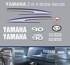 90hp 2 stroke and 4 stroke Yamaha Outboard Decals