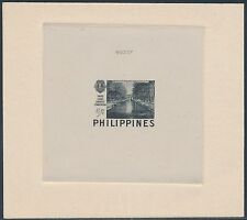 PHILS #582TC BLACK DIE TRIAL COLOR PROOF ON INDIA ON CARD W/ CONTROL # BS3521