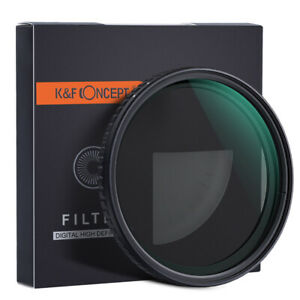 K&F Concept 77mm Fader Variable ND Filter Neutral Density ND2 to ND32 NO X Spot
