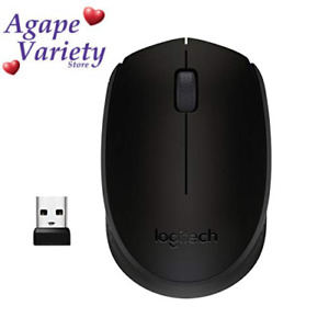 Logitech M170 Wireless Mouse, 2.4 GHz with USB Mini Receiver, Optical Black