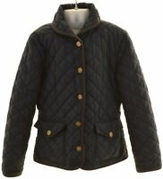 RALPH LAUREN Girls Quilted Jacket 8-9 Years Medium Blue Polyester  FK14