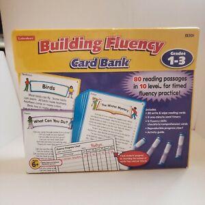 Lakeshore Learning Building Fluency Card Bank Read  EE501 Grades 1-3, Homeschool