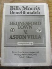 14/10/1985 hednesford Città V Aston Villa [BILLY Morris vantaggio]. l'oggetto viene visualizzata T