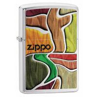 ZIPPO - BENZIN - FEUERZEUG - COLORFUL WOOD DESIGN - 60005143 -