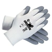 12 Pair MCR Ultra Tech 9674XS 15 Gauge Gray/White Work Safety Gloves X-small
