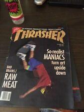 Thrasher Skateboard Magazine November 1989 Scott Oster Bert Lamar 11/89 Nov