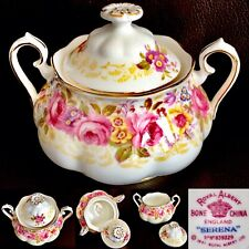 "Vintage (1941) Registered Design Royal Albert ""Serena"" Bone China Sugar Bowl"