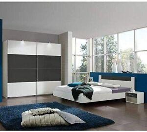Wimex Bett + Lattenrost + Nachttisch - 140 x 200 - Farbe Alpinweiß - Neu OVP