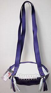 NEW r25 Purple/White FOOTBALL PURSE Shoulder Bag NFL Minnesota Vikings Wildcats