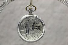 Ultra RARE! SERVICED! USSR Pocket watch MOLNIA 375 y. Kalmykia as part of Russia