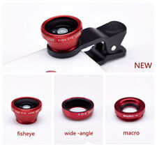 3in1 Fish Eye+ Wide Angle + Macro Camera Clip-on Lens Kits for iPhone 5 5S 6 US