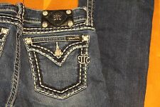 Miss Me Boot Cut Jeans w/ Crystals--size 29 Excellent Condition-SEXY