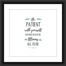 Motivational Print Inspirational Posters, Wall Art Quote A4 Be Patient