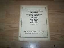 ALLIS CHALMERS PARTS CATALOG MANURE SPREADERS NO. 140 140-S 180 180-S 1964