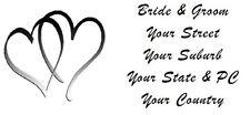 120 LARGE PERSONALISED WEDDING INVITATION RETURN ADDRESS LABEL STICKERS 2 HEARTS