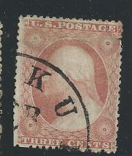 SC 26 WITH CDS CANCEL--VERY PALE -BROWN CARMINE--50