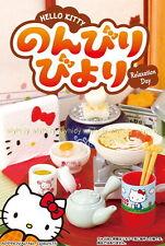 Miniatures Sanrio Hello Kitty Relaxation Day Leisurely Biyori Box Set -Re-ment