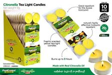 10x Citronella Tealight Candle Tea Light Candles up to 3 Hours Tea Lights Sydney