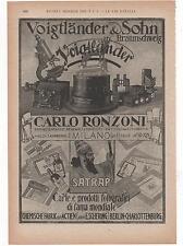 Pubblicità epoca 1925 VOIGTLANDER FOTO SATRAP advert werbung publicitè reklame