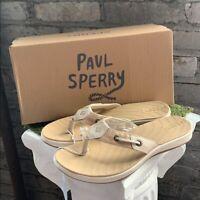 NEW Sperry Women's Seabrook Tan Sandals Flip Flops Thongs Surf - Pick Size