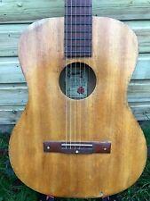 Vintage EGMOND Dutch Blonde Parlor Blues Acoustic Guitar 6 Steel String 50s 60s
