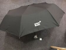 MONTBLANC GAW FOLDABLE UMBRELLA, BLACK COLOR - NEW