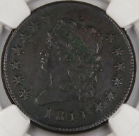 1811 Classic Head Large Cent, NGC XF Details S-287, Environmental Damage DGH