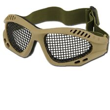 OCCHIALI SOFTAIR STEEL MESH AIRSOFT TACTICAL GOGGLE A RETE COYOTE TFG1706C