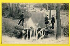 cpa FRANCE 75 - PARIS Bois de Vincennes La CASCADE à Maurice AMANDRY au 1er BCP