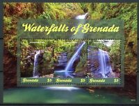 Grenada 2018 MNH Waterfalls Falls 3v M/S Nature Tourism Landscapes Stamps