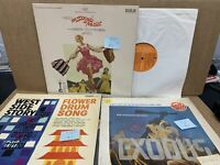 Soundtrack Musical 3 Record LP Lot- Sound Of Music West Side Story Exodus