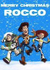 Toy Story personnalisé Carte de Noël-Ajouter Votre Propre Nom