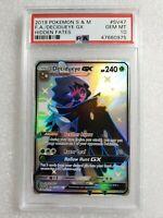 Pokemon Decidueye GX SV47 Full Art Secret Rare Hidden Fates PSA 10 Gem Mint 🔥