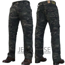 New Mens Kam Casual Military Army Cargo Combat Zipper Work Pants Jeans Trousers