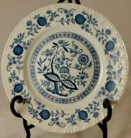 "Vintage Enoch Wedgwood ""Blue Heritage"" (Blue Onion) 10"" Dinner Plate - England"