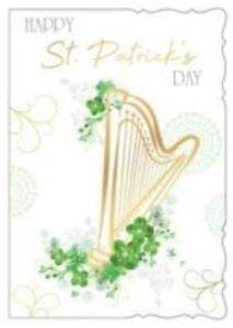 St. Patricks Day Card ~ A Irish Harp By Out Of The Blue  ~ Free P&P