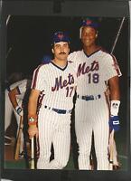 KEITH HERNANDEZ DARRYL STRAWERRY NEW YORK METS 8 X 10 PHOTO 1986