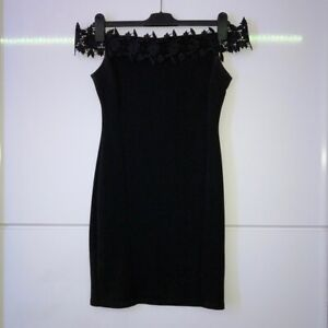 Miss Selfridge Black Mini Dress Size 8